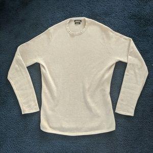Massimo Dutti Cream knit sweater small
